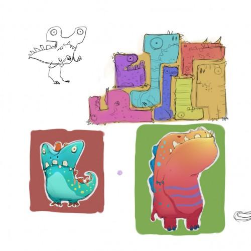 tetris dinosaurs